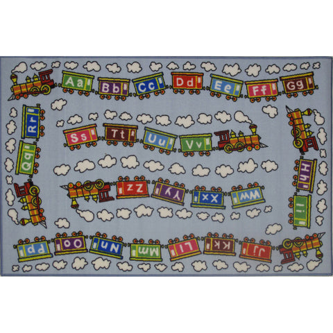 Fun Rugs Fun Time Collection Edu Train Area Rug