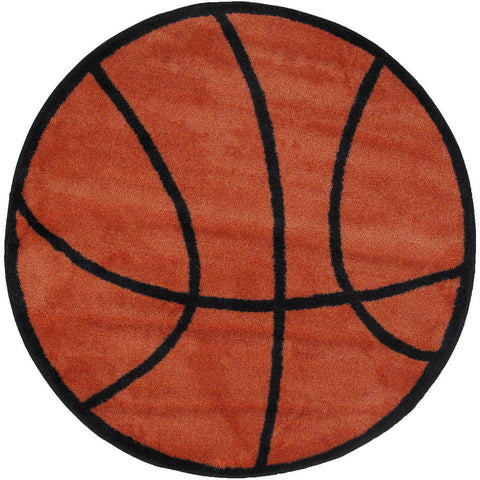 Fun Rugs Fun Time Shape Collection Basketball Area Rug