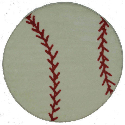 Fun Rugs Fun Time Shape Collection Baseball Area Rug