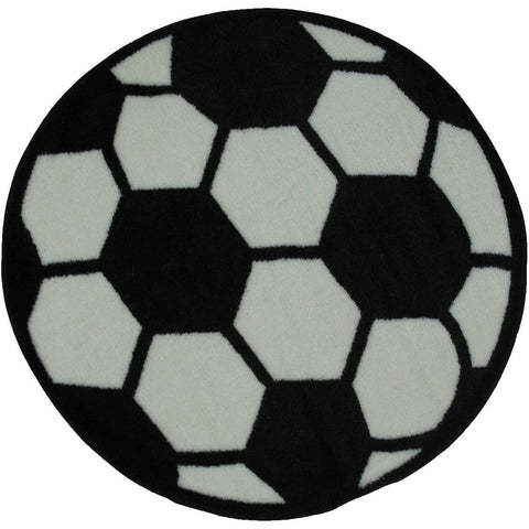 Fun Rugs Fun Time Shape Collection Soccerball Area Rug