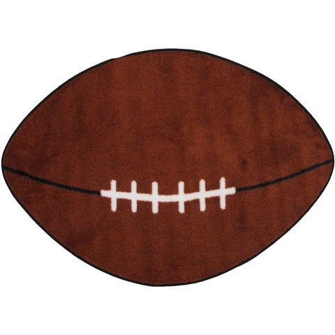 Fun Rugs Fun Time Shape Collection Football Area Rug