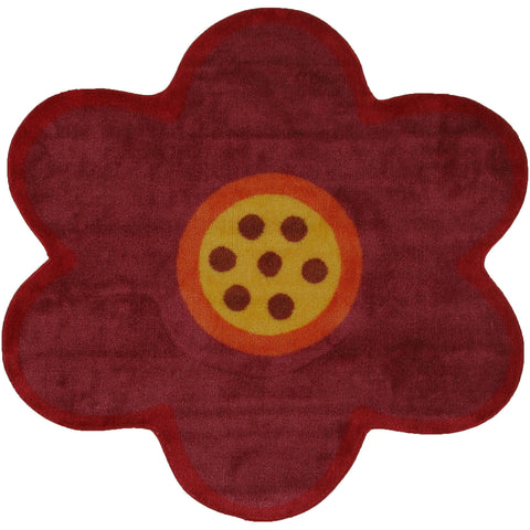 Fun Rugs Fun Time Shape Collection Pink Poppy Area Rug