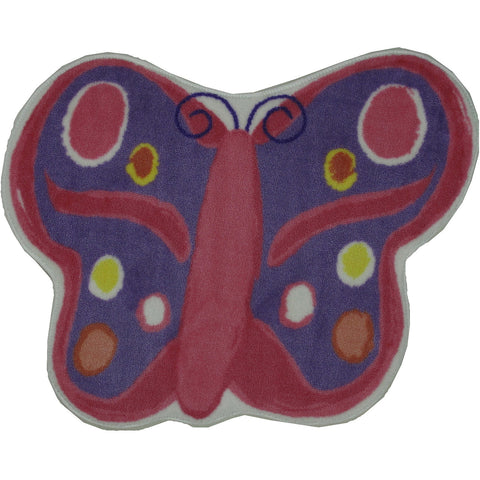Fun Rugs Fun Time Shape Collection Butterfly Area Rug