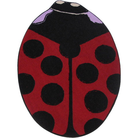 Fun Rugs Fun Time Shape Collection Red Lady Bug A Area Rug