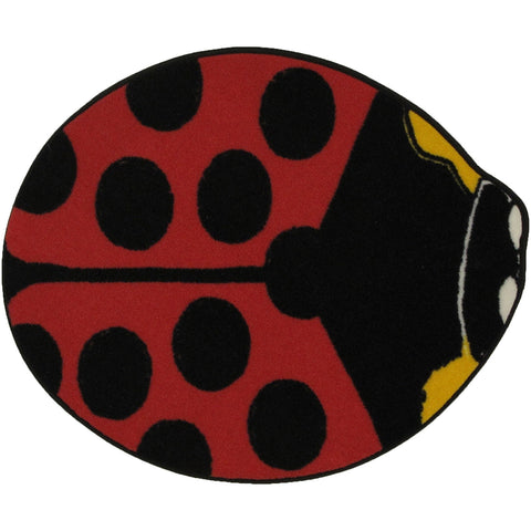 Fun Rugs Fun Time Shape Collection Red Lady Bug Area Rug