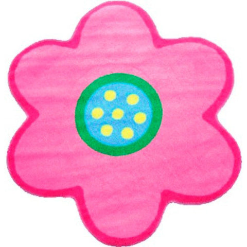Fun Rugs Fun Time Shape Collection Poppy Light Pink Area Rug