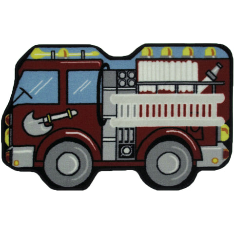 Fun Rugs Fun Time Shape Collection Fire Engine Area Rug