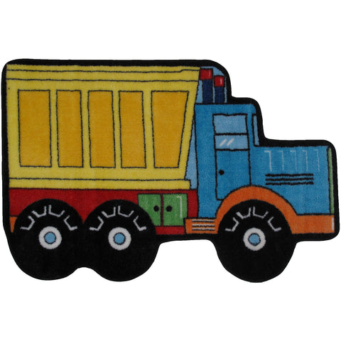 Fun Rugs Fun Time Shape Collection Dump Truck Area Rug