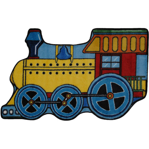 Fun Rugs Fun Time Shape Collection Train Area Rug
