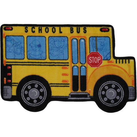 Fun Rugs Fun Time Shape Collection School Bus Area Rug