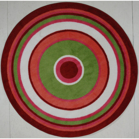 Fun Rugs Fun Time Shape Collection Concentric 3 Area Rug