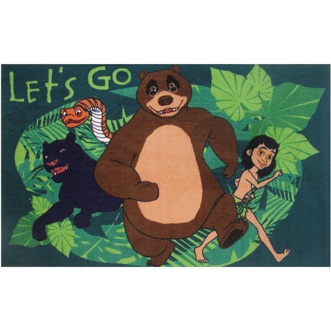 Fun Rugs Jungle Book Collection Let's Go Area Rug