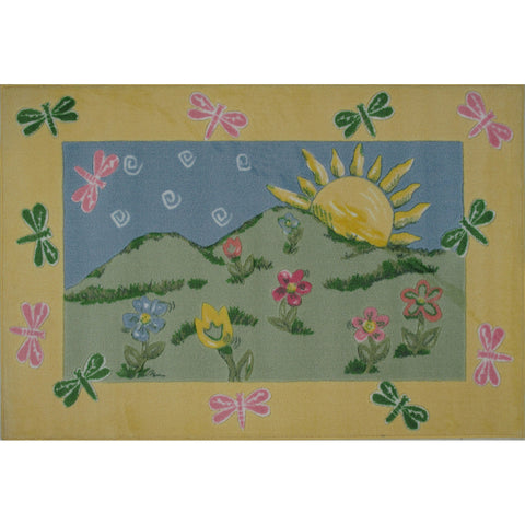 Fun Rugs Jade Reynolds Collection Dragonfly Morning Area Rug