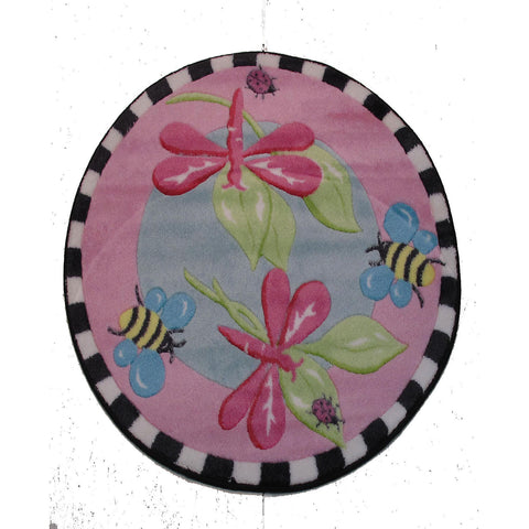 Fun Rugs Jade Reynolds Collection Pink Dragonfly Area Rug