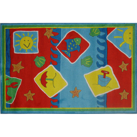 Fun Rugs Jade Reynolds Collection Beach Blanket Area Rug