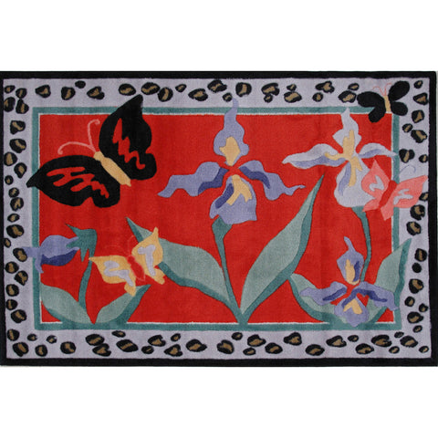 Fun Rugs Jade Reynolds Collection Irises Area Rug