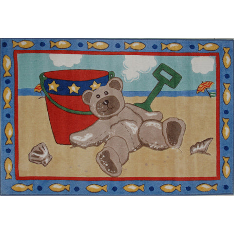 Fun Rugs Jade Reynolds Collection Beach Bear Area Rug