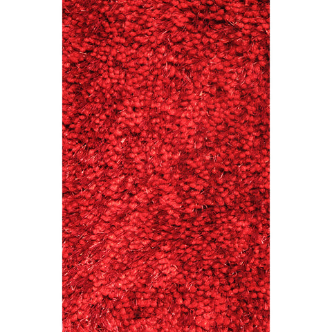 LA Rugs Super Shag Collection Wine Red Area Rug
