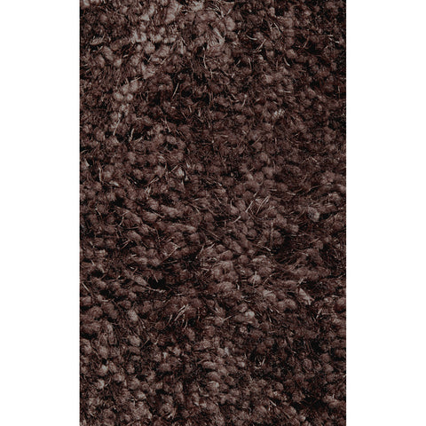 LA Rugs Super Shag Collection Brown Area Rug