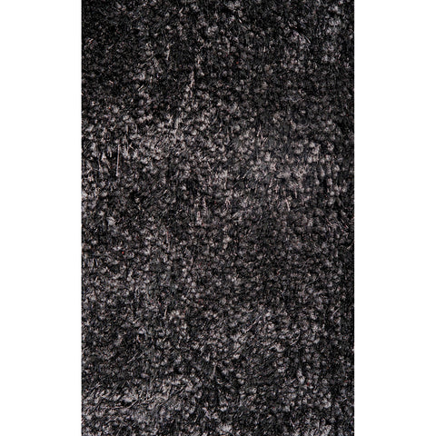 LA Rugs Super Shag Collection Black Area Rug