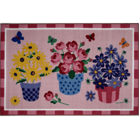 Fun Rugs Olive Kids Collection Blossoms & Butterflies Area Rug