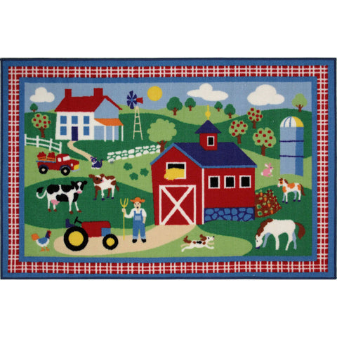Fun Rugs Olive Kids Collection Country Farm Area Rug