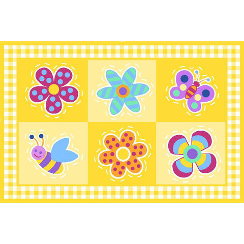 Fun Rugs Olive Kids Collection Flowerland Area Rug