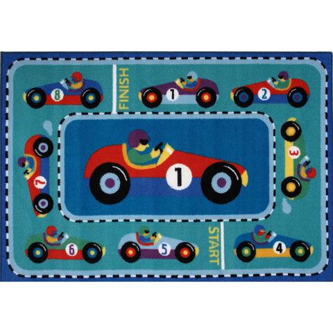 Fun Rugs Olive Kids Collection Vroom Area Rug