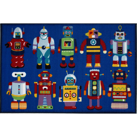 Fun Rugs Olive Kids Collection Go Robots Area Rug