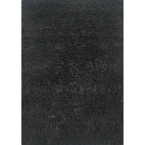 Fun Rugs Fun Shags Collection Black Area Rug