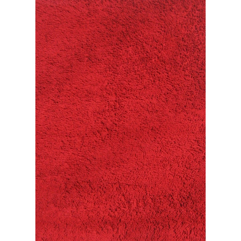 Fun Rugs Fun Shags Collection Red Area Rug