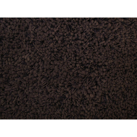 LA Rugs Shag Plus Collection Dark Brown Area Rug