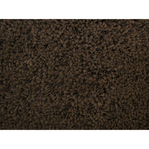 LA Rugs Shag Plus Collection Brown Area Rug