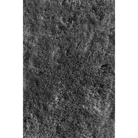 LA Rugs Soft Shaggy Collection Black Area Rug