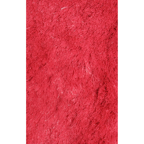 LA Rugs Silky Shag Collection Red Area Rug