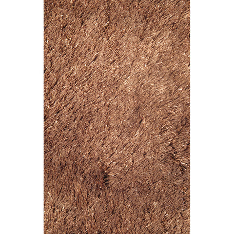 LA Rugs Silky Shag Collection Brown Area Rug