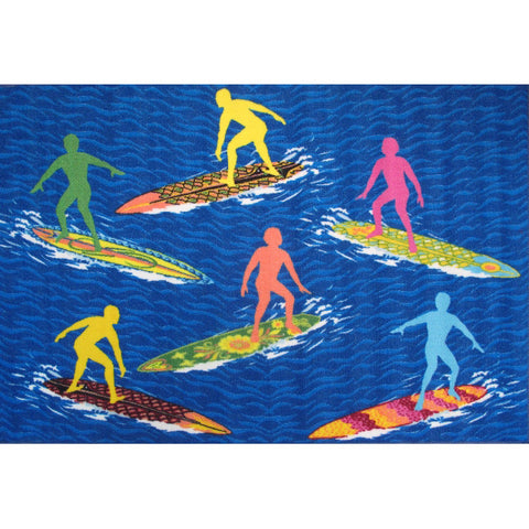 "Fun Rugs Surf Time Collection Surfs ""R"" Us Area Rug"
