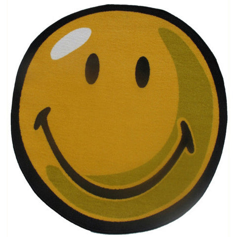Fun Rugs Smiley World Collection Yellow Area Rug