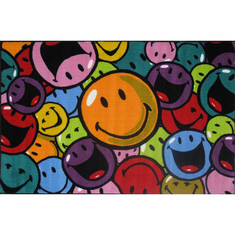 Fun Rugs Smiley World Collection Smiles and Laughs Area Rug