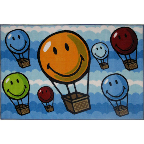 Fun Rugs Smiley World Collection Hot Air Balloon Area Rug