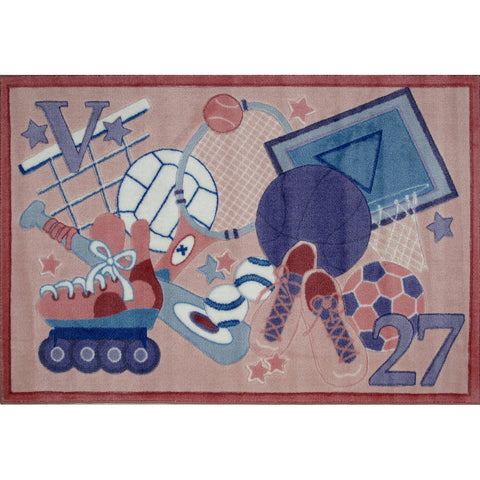 Fun Rugs Supreme Collection All Stars Girls Area Rug