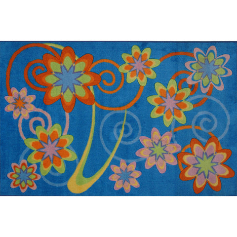 Fun Rugs Supreme Collection Flower Burst Area Rug