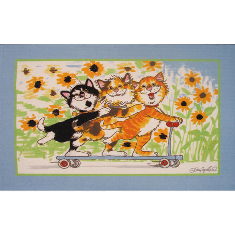 Fun Rugs Wags & Whiskers Collection Duckport Kitties Take A Ride Area Rug