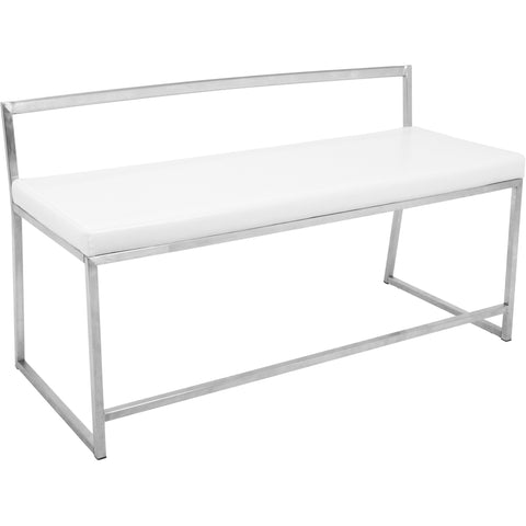 Fuji Contemporary Dining / Entryway Bench, White