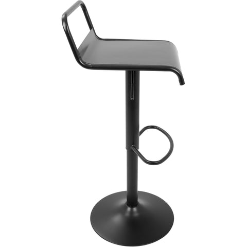 Emery Industrial Contemporary Barstools, Black (Set of 2)