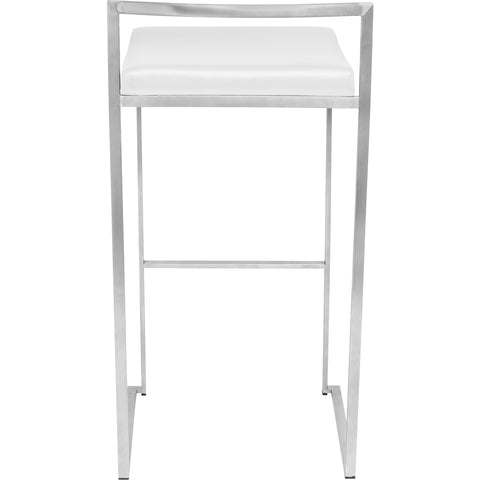 Fuji Stacker Barstool (Set of 2), White