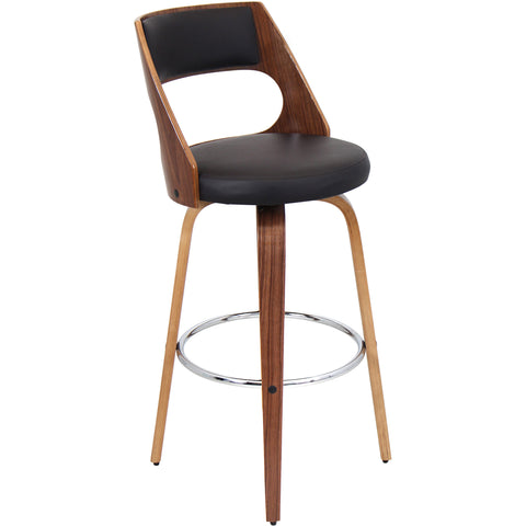 Cecina Barstool, Walnut/Brown