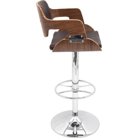 Fiore Barstool, Walnut/Brown