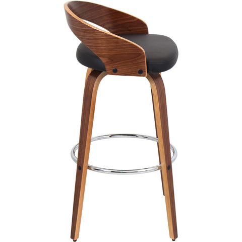 Grotto Barstool, Walnut/Brown