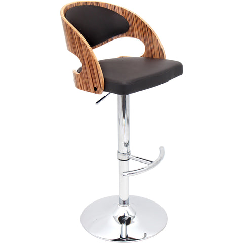 Pino Barstool, Zebra/Brown